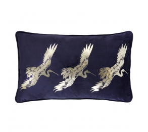 Qing Navy Filled Cushion